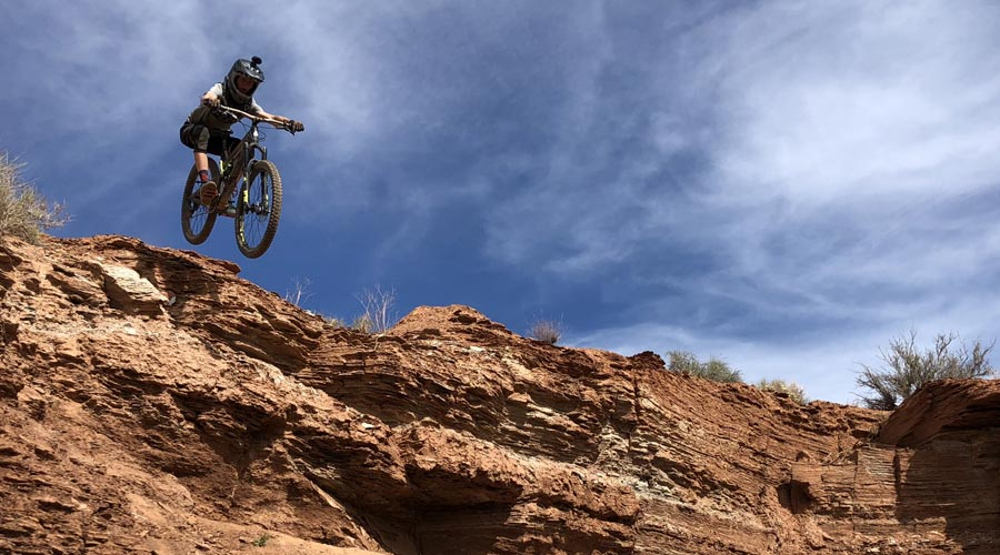 Dropping in at the old Red Bull Rampage site