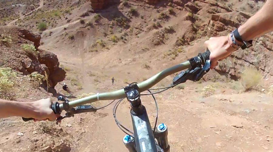POV of a line at the old Red Bull Rampage site
