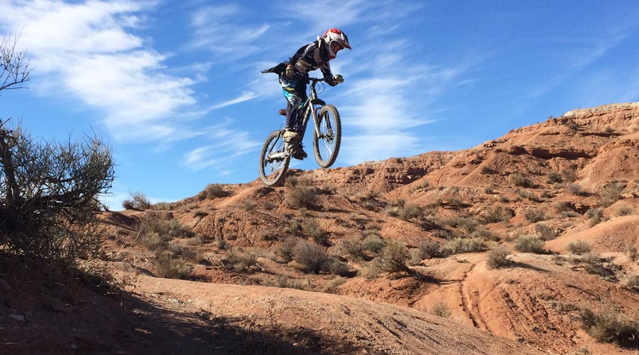 Old Red Bull Rampage site - getting air