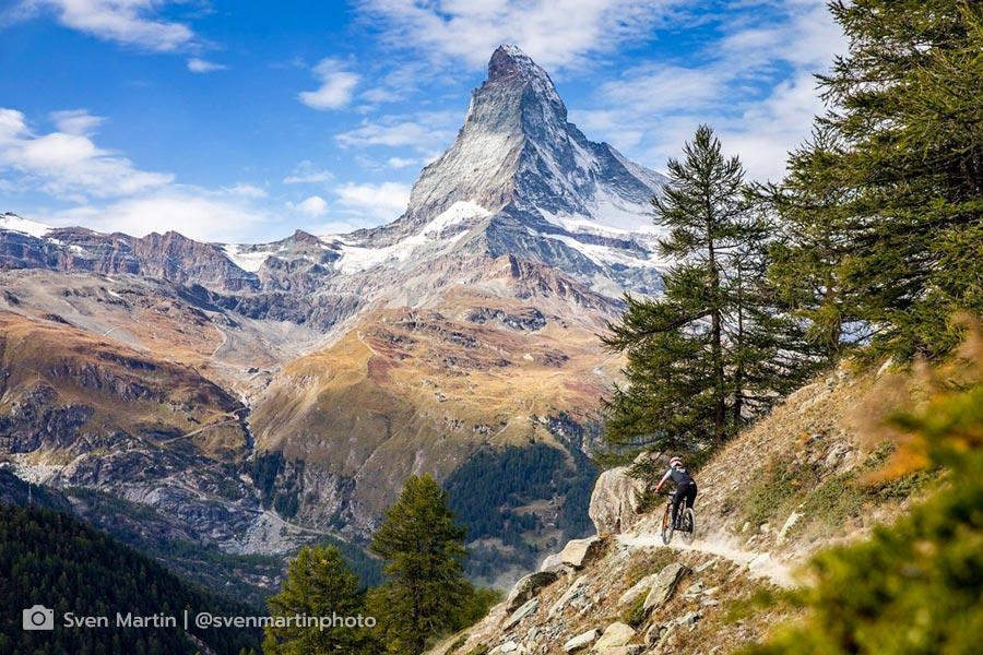 Isabella Naughton riding in Switzerland