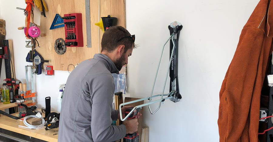 Installing the Steadyrack for mountain bike storage