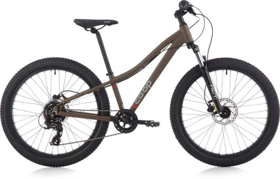 kids co-op rev mountain bike 24-inch wheels