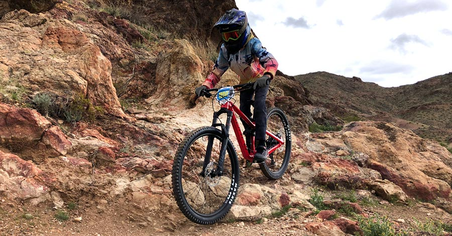 The suspension package on the Norco Sight 27.5 is meant for technical terrain