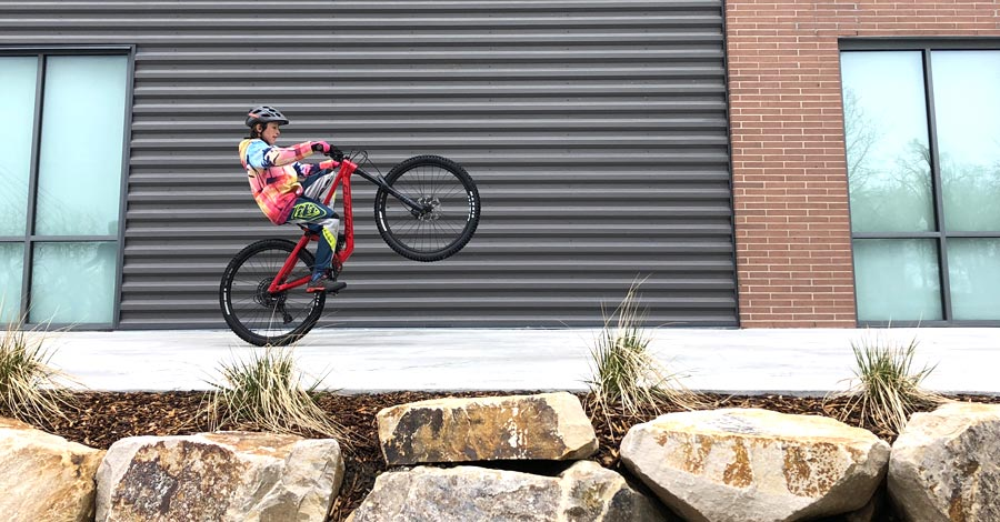 The Norco Sight 27.5 can wheelie if you can.