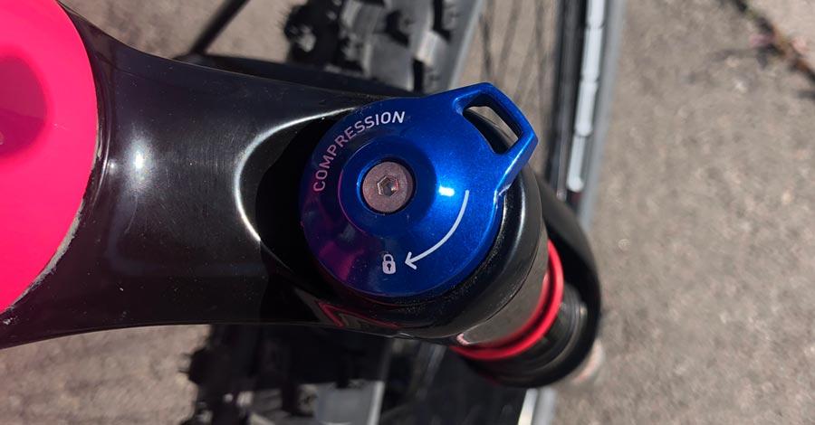 RockShox REBA air fork lockout adjustment