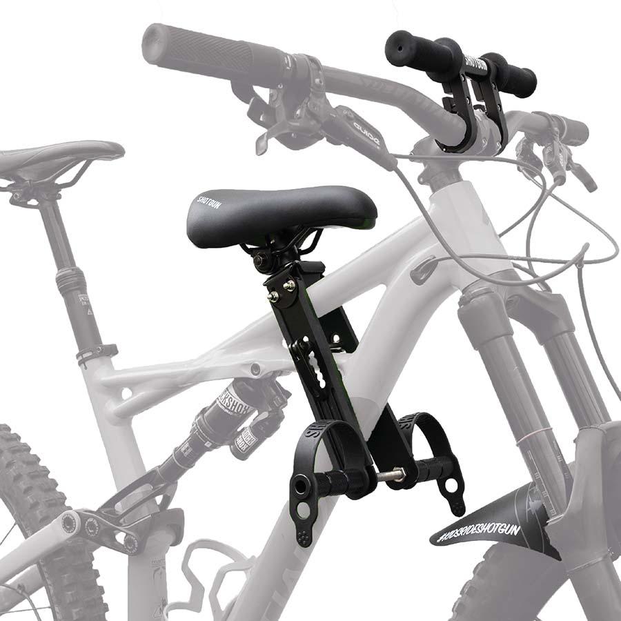 Kids ride shotgun seat gift for mountain bike dad