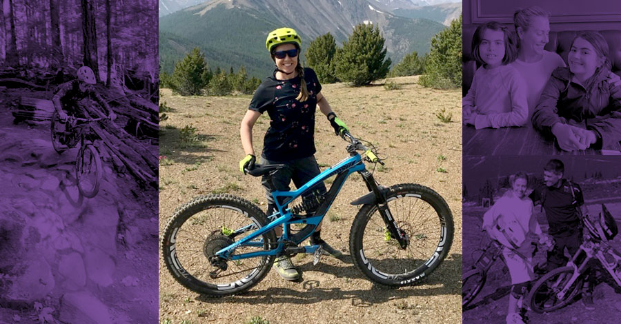 Sarah Fenton Tippie and her YT Industries bikes