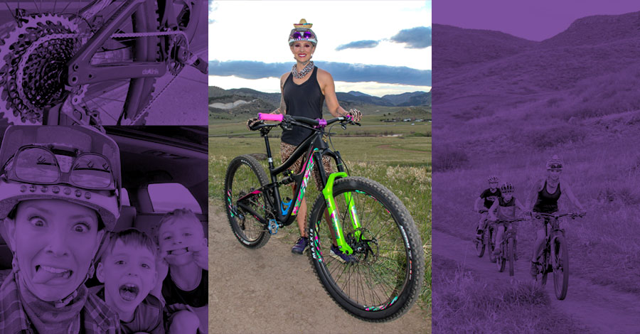 Chris Schieffer and her Ibis mountain bike