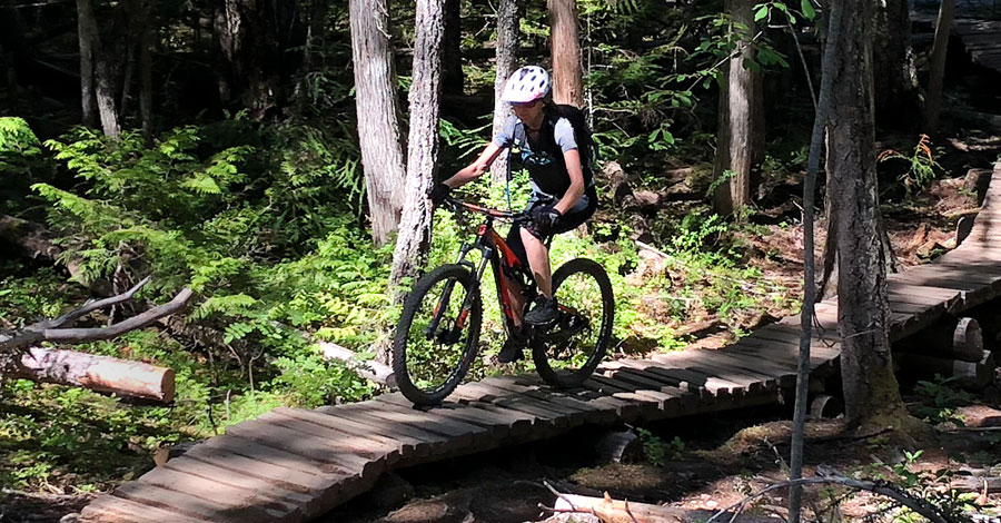 Traci Thompson - Riding in Whistler, BC