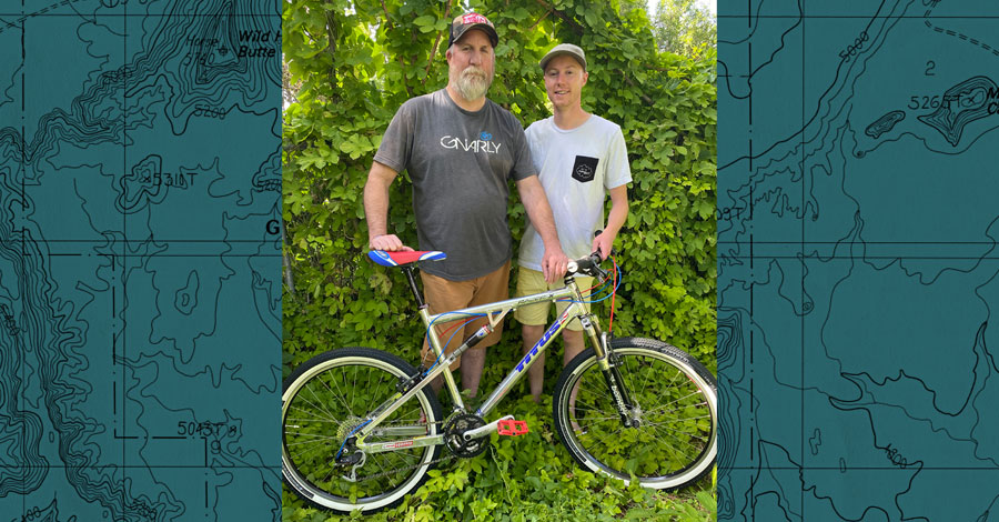 Allen Sybrant, son, and bike