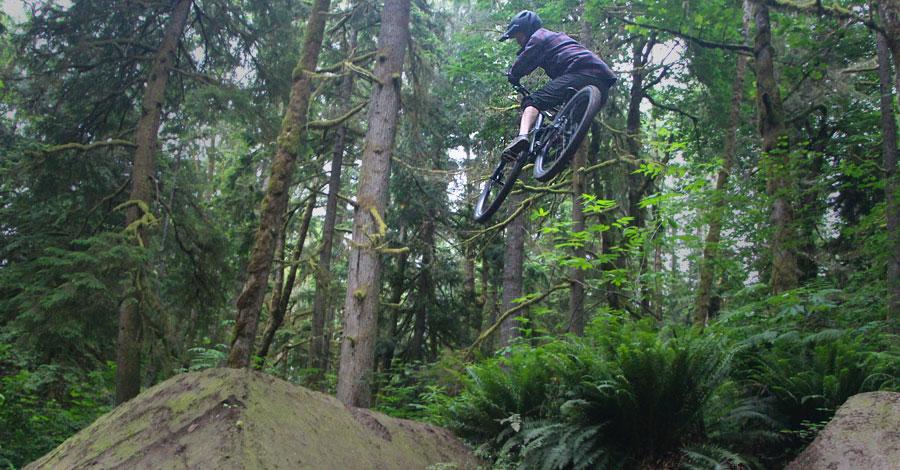 Andrew Skeen in the air