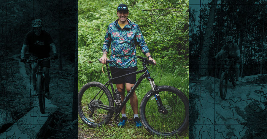 Devin Featherstone and his Cannondale Cujo