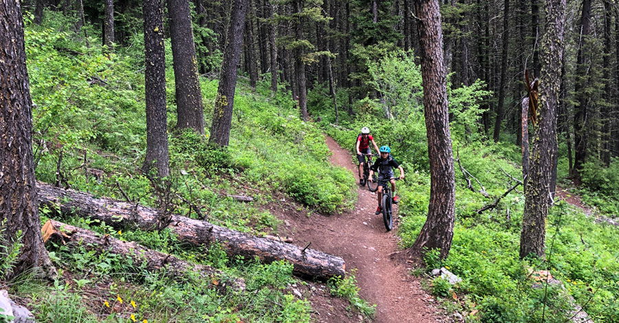 Mountain biking with kids in Jackson Hole, Wyoming