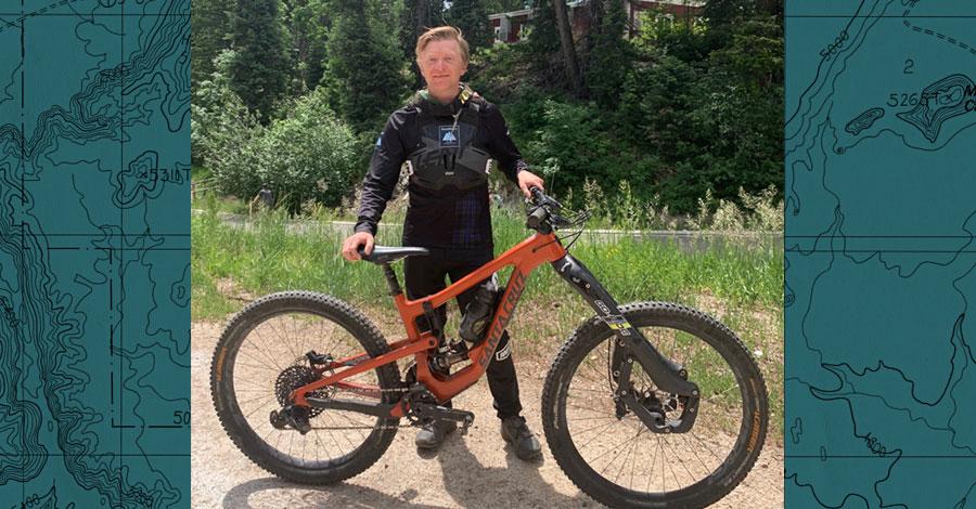 Kris Baughman and his Santa Cruz Nomad
