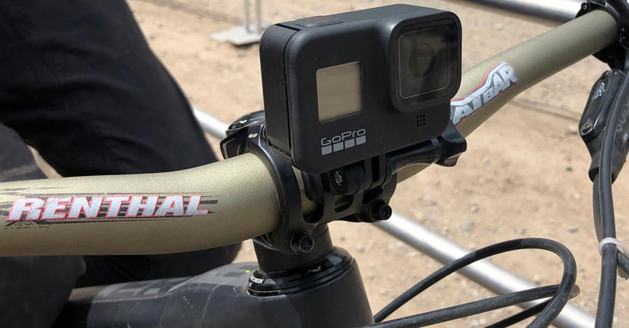 GoPro on the PNW Components Range stem with accessory mount