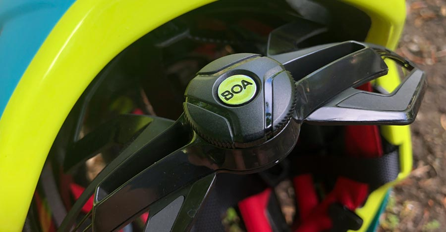 BOA adjustment system on the Bontrager Quantum MTB helmet
