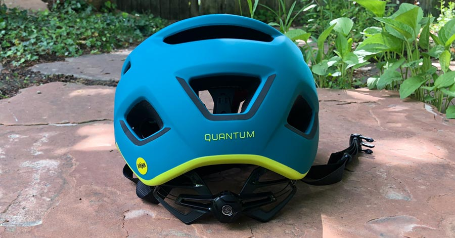 Rear view - Bontrager Quantum bike helmet with MIPS protection