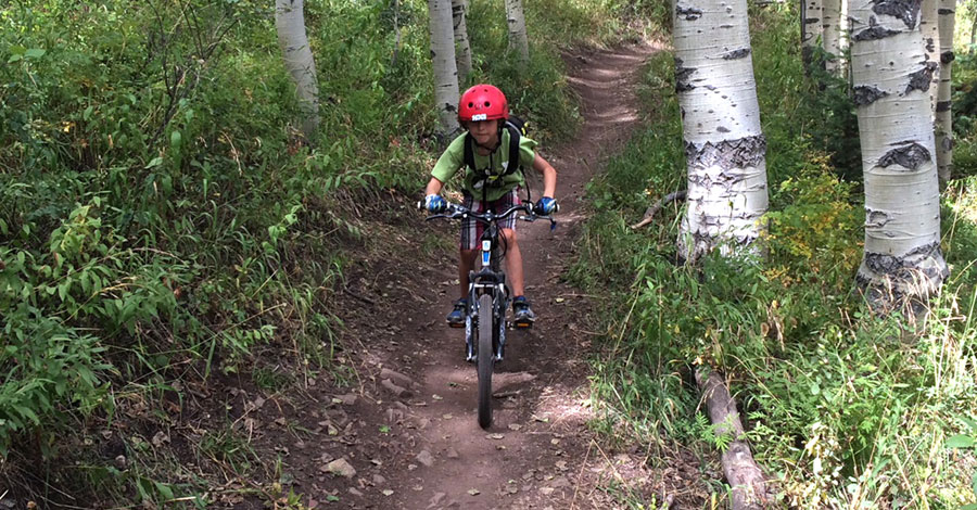 Family friendly mountain bike trails in Park City, Utah