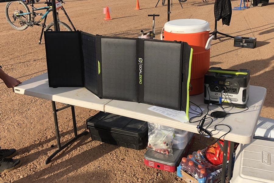 The Goal Zero Nomad 50 folding solar panel