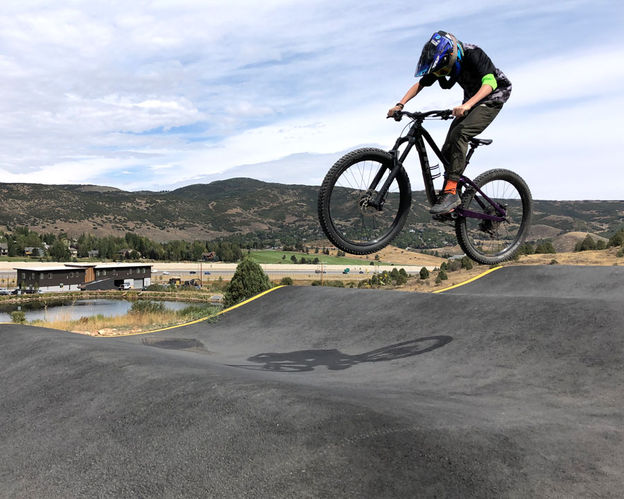 Riding the connector ribbon at Woodward Park City