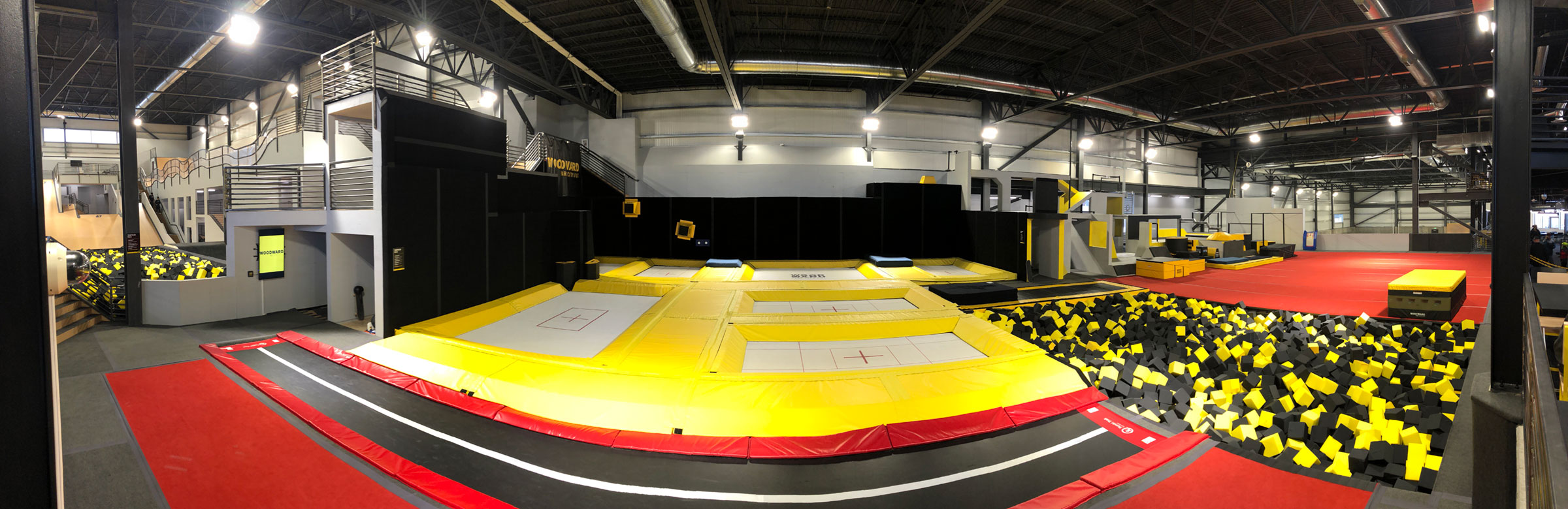 Competition grade trampolines at Woodward Park City