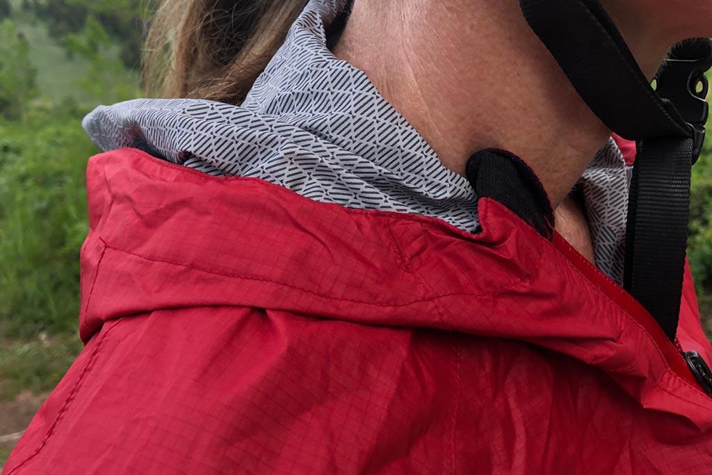 Hood down detail - Bontrager Avert Women's Rain Jacket
