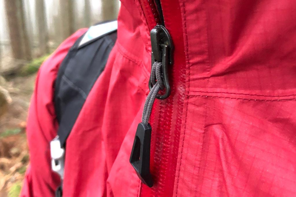 YKK Zipper and seal tape detail - Bontrager Avert Women's Rain Jacket