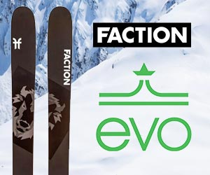 Faction skis from EVO