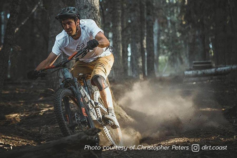 Tim McChesney - pro freeskier on the mountain bike