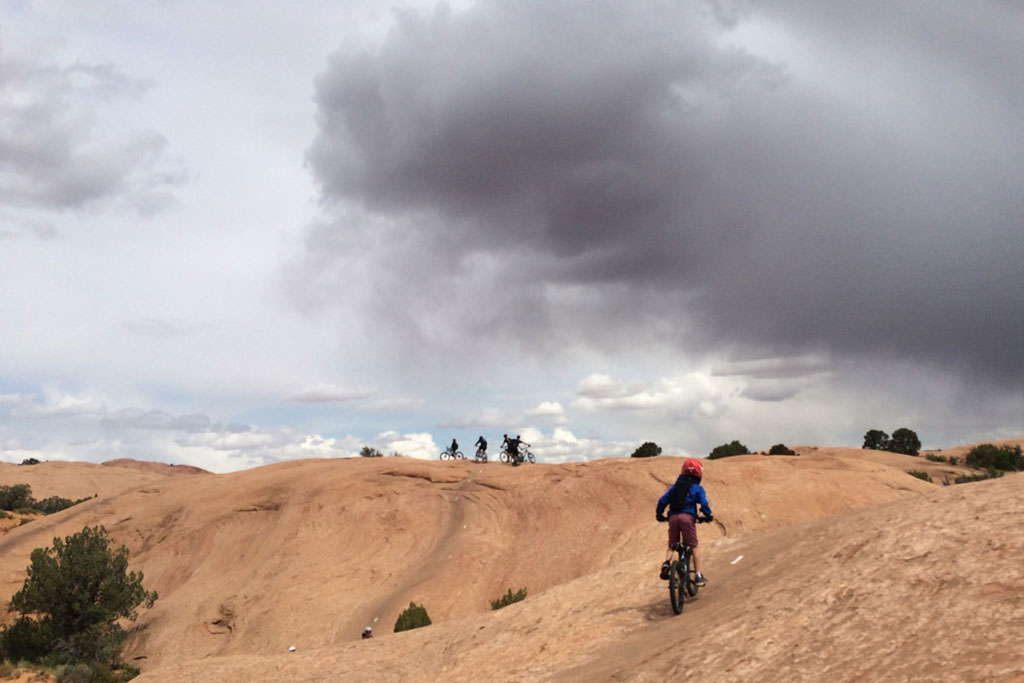 Riding Moab's Slickrock Trail with Kids