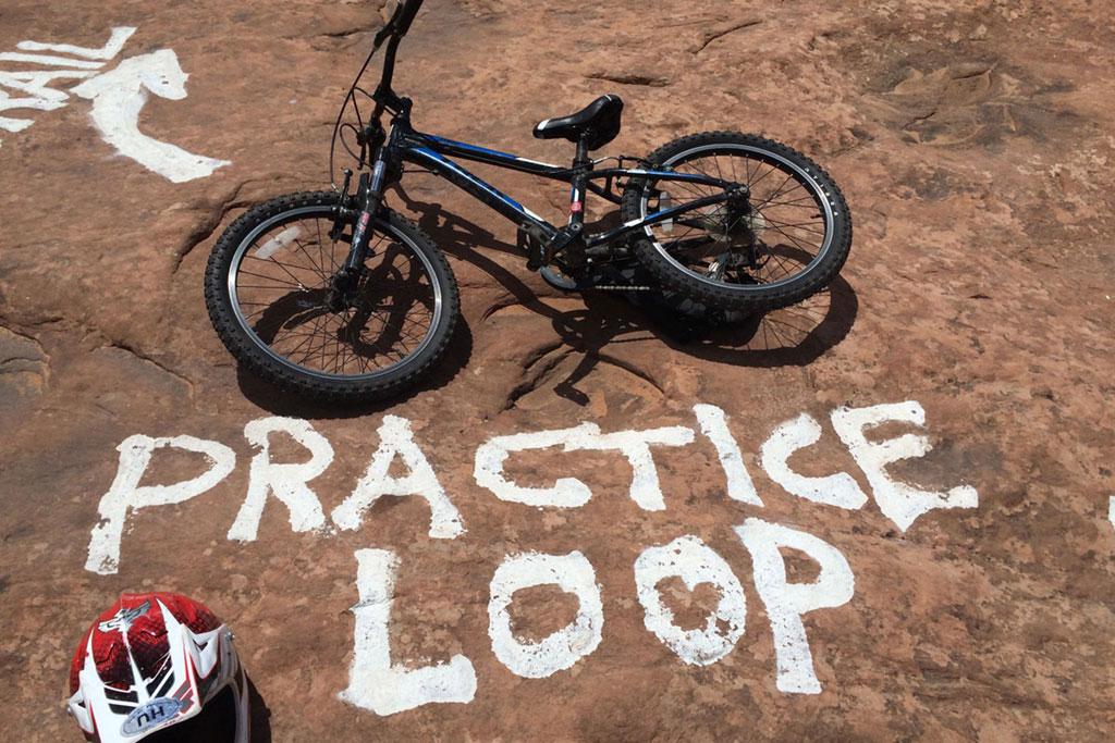 Slickrock Trail Practice Loop with Kids